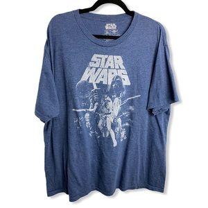 Star Wars Blue Darth Vader Comic Graphic T Shirt